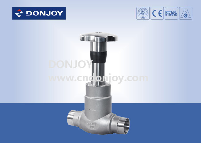 "1/2"" - 3"" Direct Way Manually Clamped Stainless Steel Valves With Plastic Handwheel"