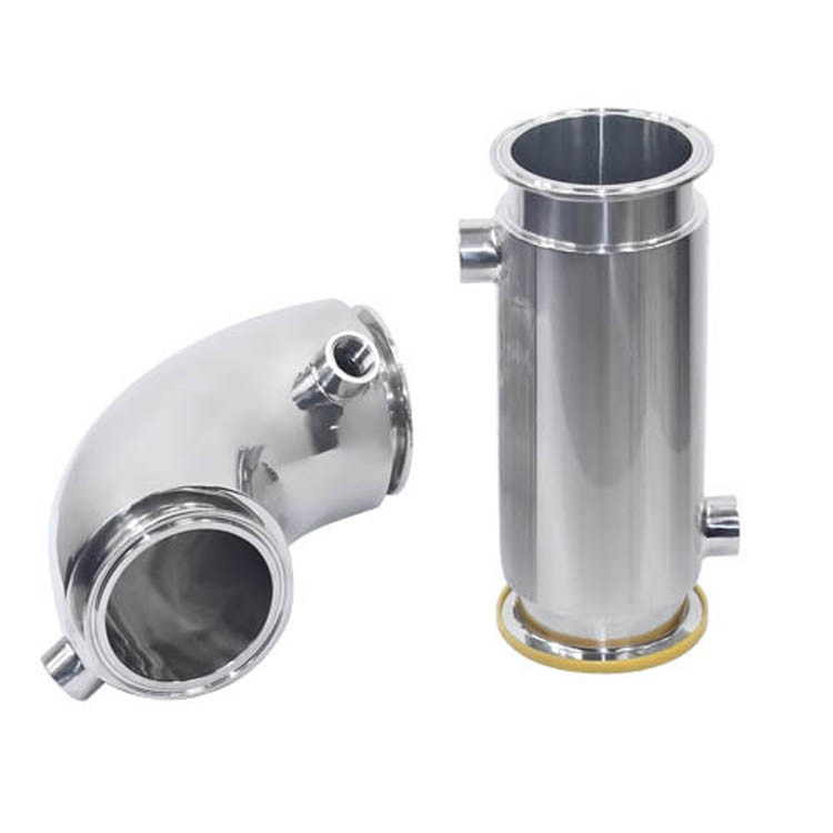 304 316L Stainless Steel Sanitary Fittings Jacketed Insulation Clamp Tee , Elbow , Pipe