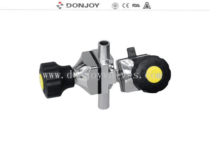 "SS316L 1/4"" Mini  Three - way Sanitary Diaphragm Valve , clamp Connection"