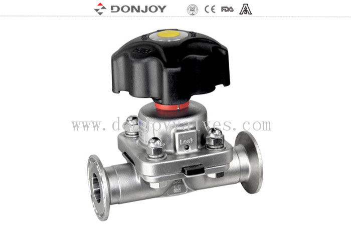 1 inch - 4 inch 316L Manual or Pneumatic Sanitary Diaphragm Valve with EPDM PTFE