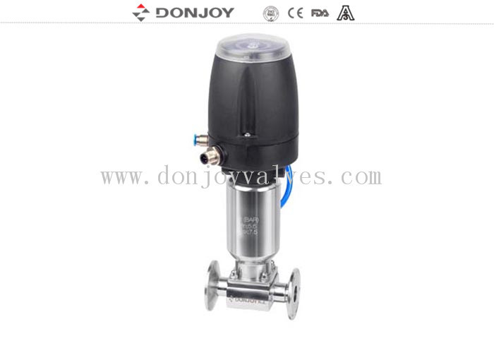 1/2 inch  Clamp ends pneumatic diaphragm valve with smart head  EPDM+PTFE membrane