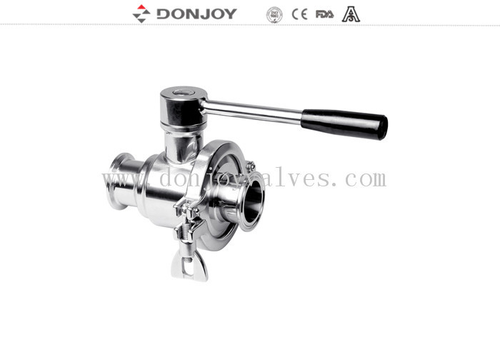Pneumatic SS316L 2 WAY Sanitary Ball Valve with Multi Stainless Steel Handle