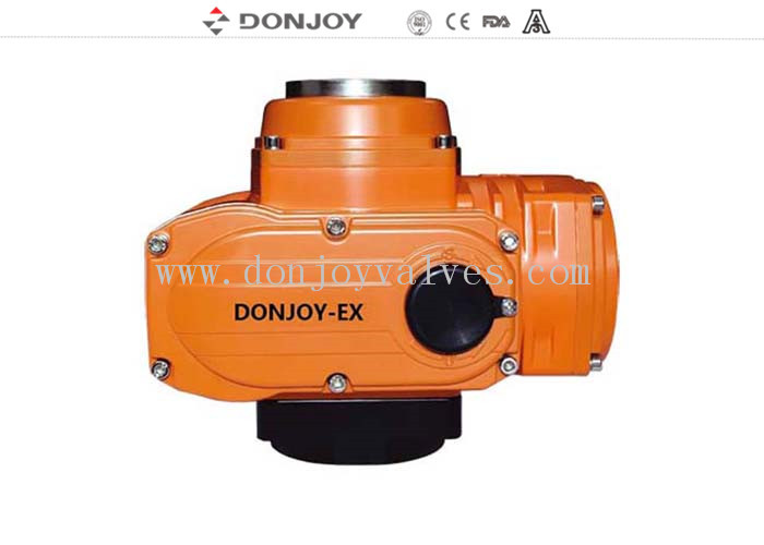 DC24V AC220V Small Electronic Rotary Valve  Explosion Proof EXD II BT4 Electric Actuator