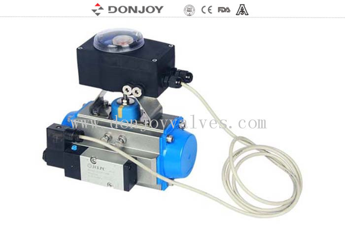 Valve with Aluminum actuator with Intelligent C TOP-1561 control unit to feedback PLC