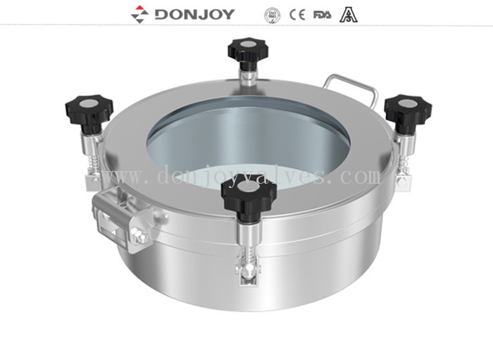 SS316L Circular Manhole Covers 450×100mm For Pharmaceutical Stirring Tank