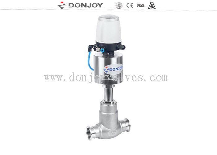 DN10 - DN100 Pneumatic Globe Control Valve With Valve Controller / Positioner