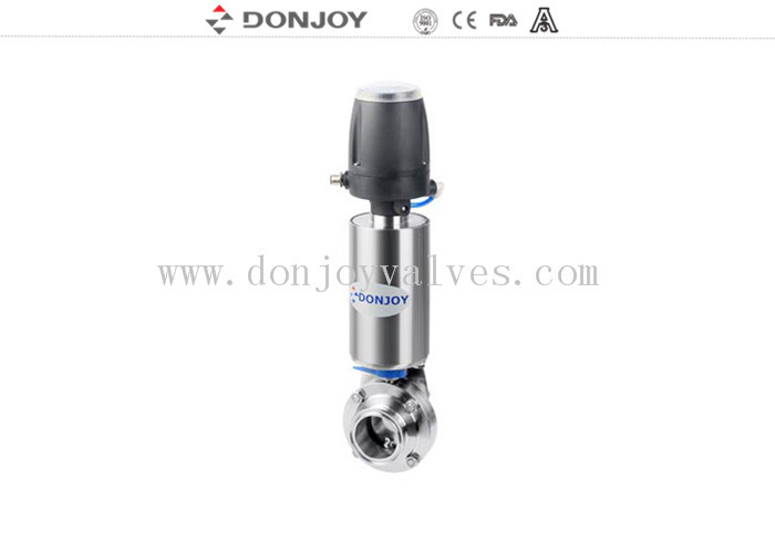 DN10 - DN300 Sanitary Welding L Butterfly Valves With OD 85 Acuator and automatic control unit
